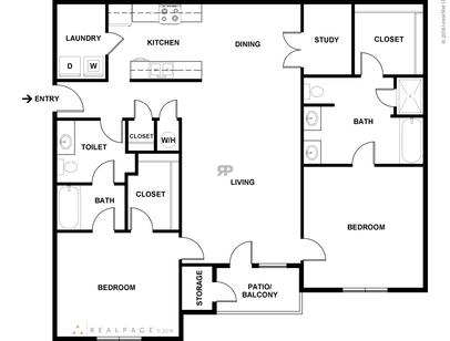 Floor Plans of The Grand Reserve at Pelham Apartments