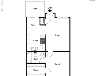Large Floor Plans at Capitola Gardens Apartments