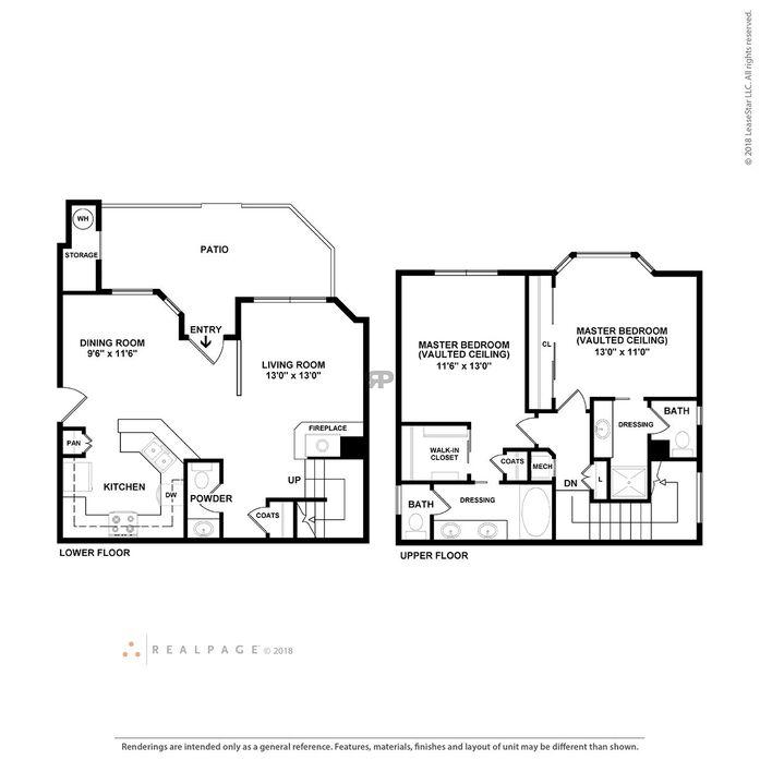 Aliso Viejo, CA Barcelona Resort Apartments Floor Plans