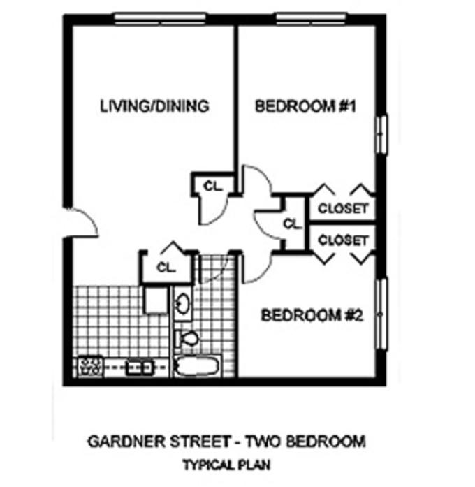 Allston, MA 30 Gardner Street Apartments Floor Plans
