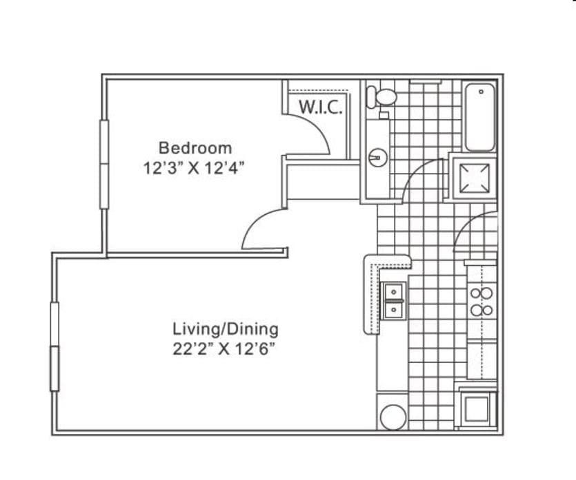 Floor Plans of Grande Court Apartments For Rent in North