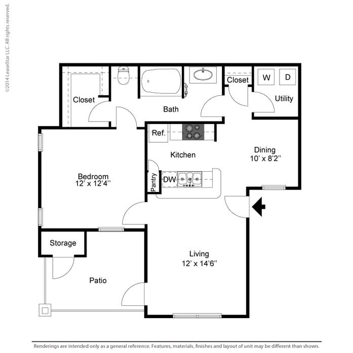Coppell, TX Oaks Riverchase Apartments Floor Plans