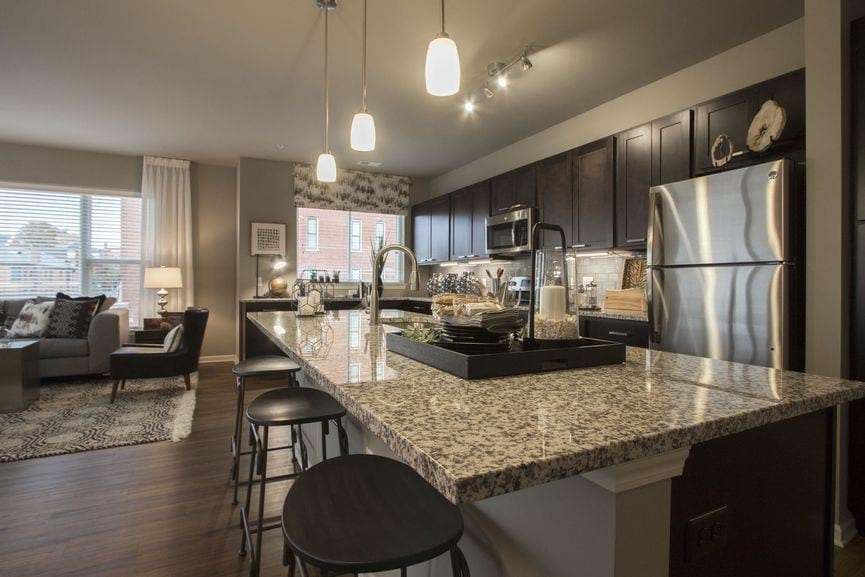 summit kitchens free standing kitchen island on quality hill luxury apartments downtown kansas city 2 bedroom apartment