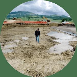 Ross Allen Walking 2Hawk Winery Construction Site