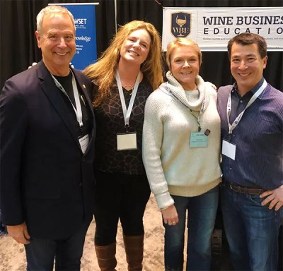 Tim Hanni, Sarah Wolcott, Chris Cook, and Patrick Booher at Oregon Wine Symposium