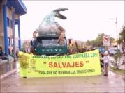 """Los Salvajes entraron bien uniformados y con la intención de """"conservar las tradiciones"""""""