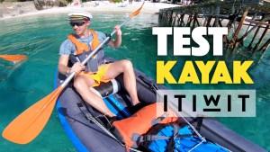 Test Kayak gonflable Itiwit 2 places (Décathlon)