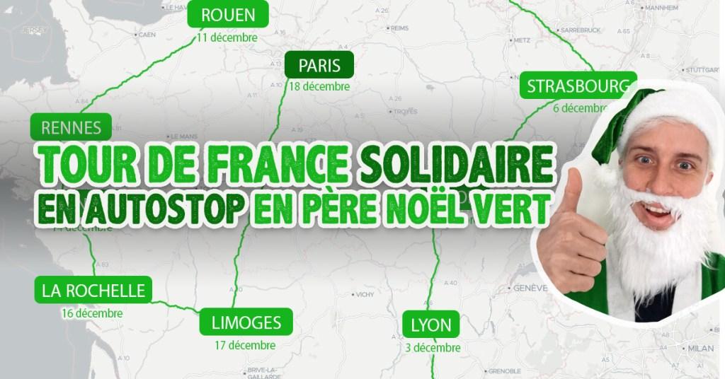 Tour de France solidaire père noël vert
