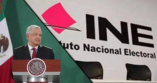 AMLO acusa al INE por actos antidemocrático