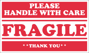 Label for fragile objects