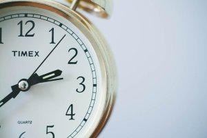 a white clock.