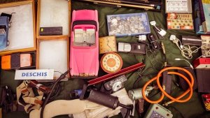 Items you don't need to pack for your move that are on a yard sale.
