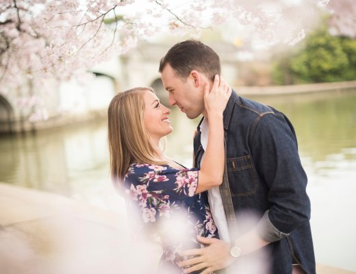 Cherry Blossom Photoshoot with Capital Couple