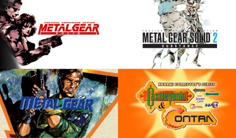 Clásicos de KONAMI como Metal Gear, Castlevania y Contra llegan a PC
