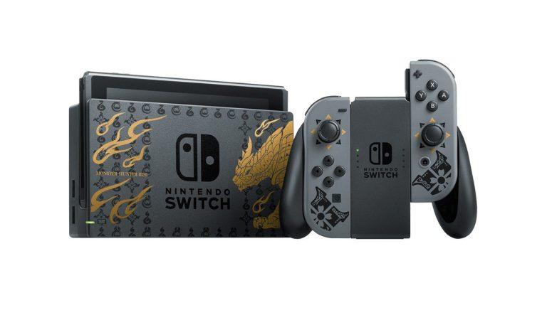Nintendo Japón lanza un Switch especial de 'Monster Hunter Rise'