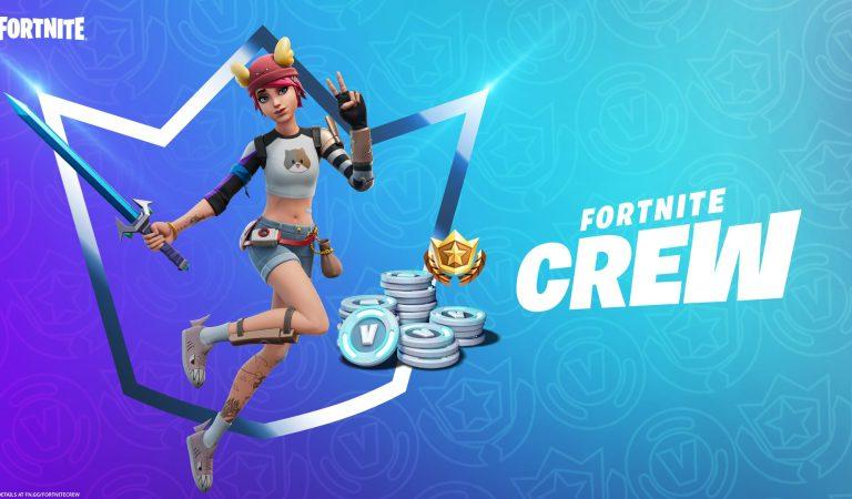 Epic games anuncia las skins y accesorios de Fortnite Crew Pack en agosto