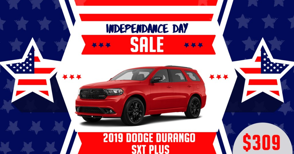 2019 Dodge Durango Fourth of July Lease Deal