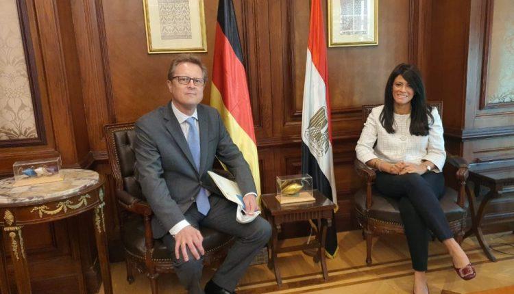 وزيرة التعاون الدولي وسفير ألمانيا