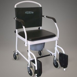 Shower Commode Mobile Swing Away legrest Inc Seat