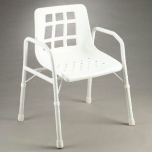 Shower Chair with Arms- Aluminium