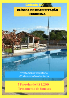Clínica de recuperação para dependentes químicos em Goiás