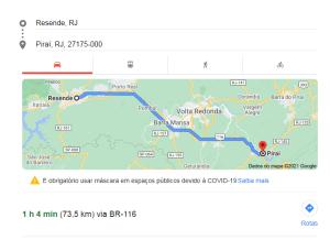 distância entre cidades