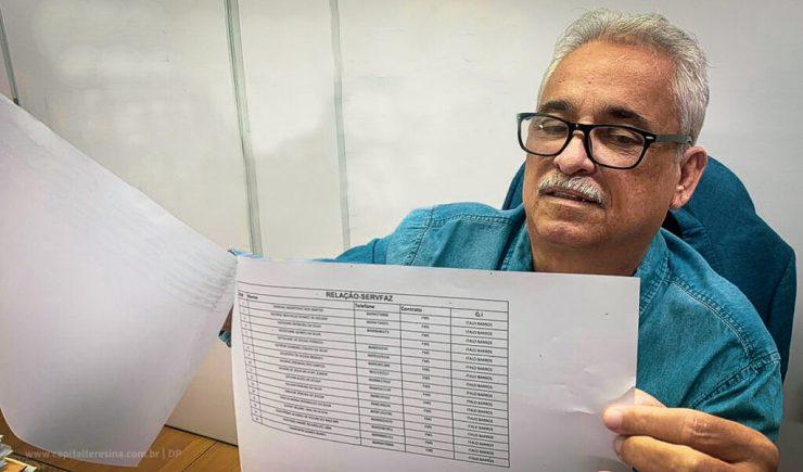 Robert Rios denuncia uso da máquina pública na eleição de Lucy Silveira em 2018. Na foto a lista da SERVFAZ.