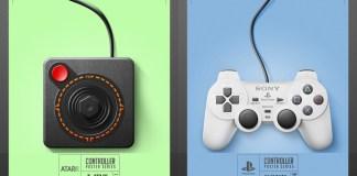 Posters de controles de videojuegos