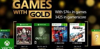 Games with Gold para diciembre de 2016