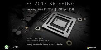 Microsoft formalizo la fecha y hora de su conferencia para E3 2017