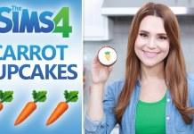 Cupcakes de zanahoria basados en Sims 4