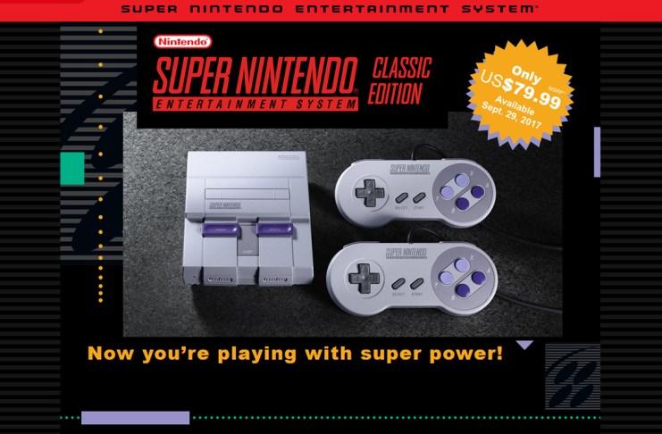 Super Nintendo Mini saldrá el 29 de setiembre
