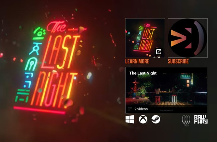 The Last Night fue la sorpresa indie en la conferencia de Microsoft