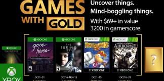 Games with Gold para octubre de 2017