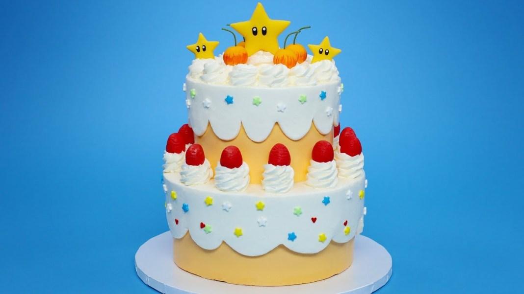 Queque de la Princesa Peach de Super Mario
