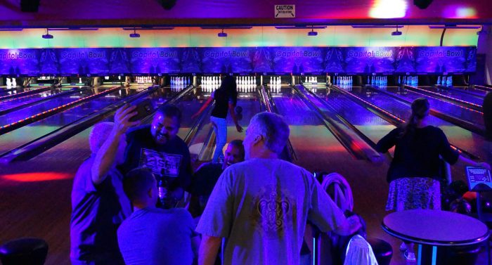 Capitol Bowl line Glow Bowling night1