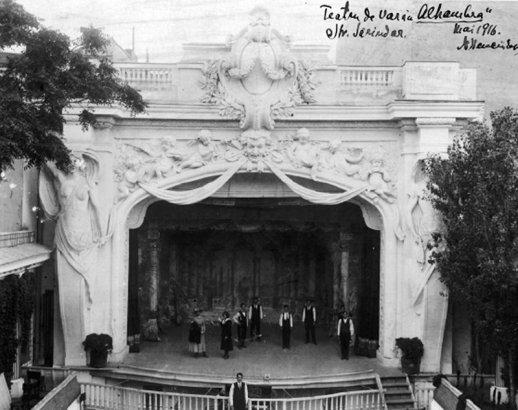 1916 Teatrul de vara Alhambra._ arh N.N fatada Sarindar