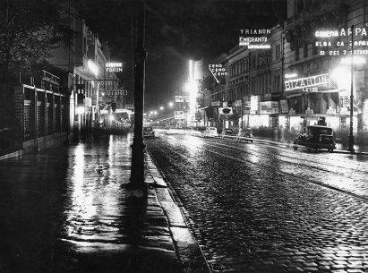 1938 - 41 - 42 - 43 Bulevardul Elisabeta_ cinema Capitol_ Bulevard Palace_ Regal_ forum_ bizantin Hotel Princial