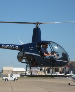 Student and Instructor flying a Robinson R22