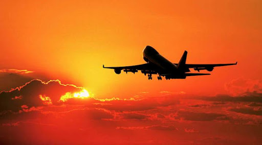 aereo-tramonto