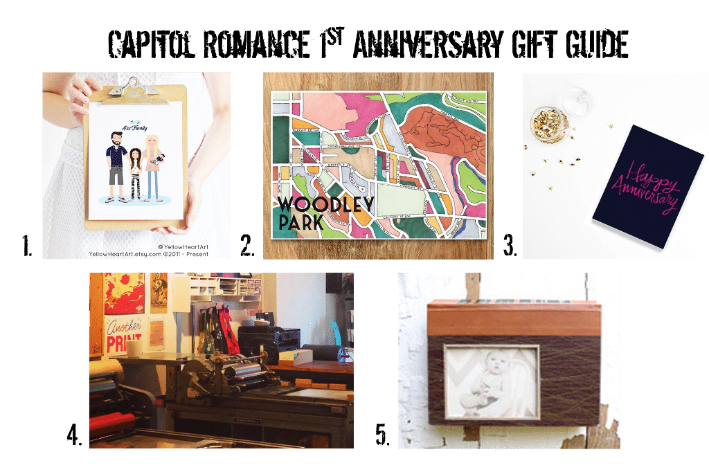 Anniversary Gift Guide: First Year Wedding Anniversary