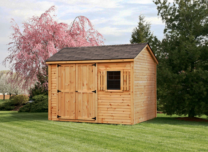8x10 Pine Clapboard Gable Style Shed  Capitol Sheds