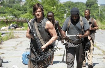 Ty, Michonne, Daryl y Bob el borracho.