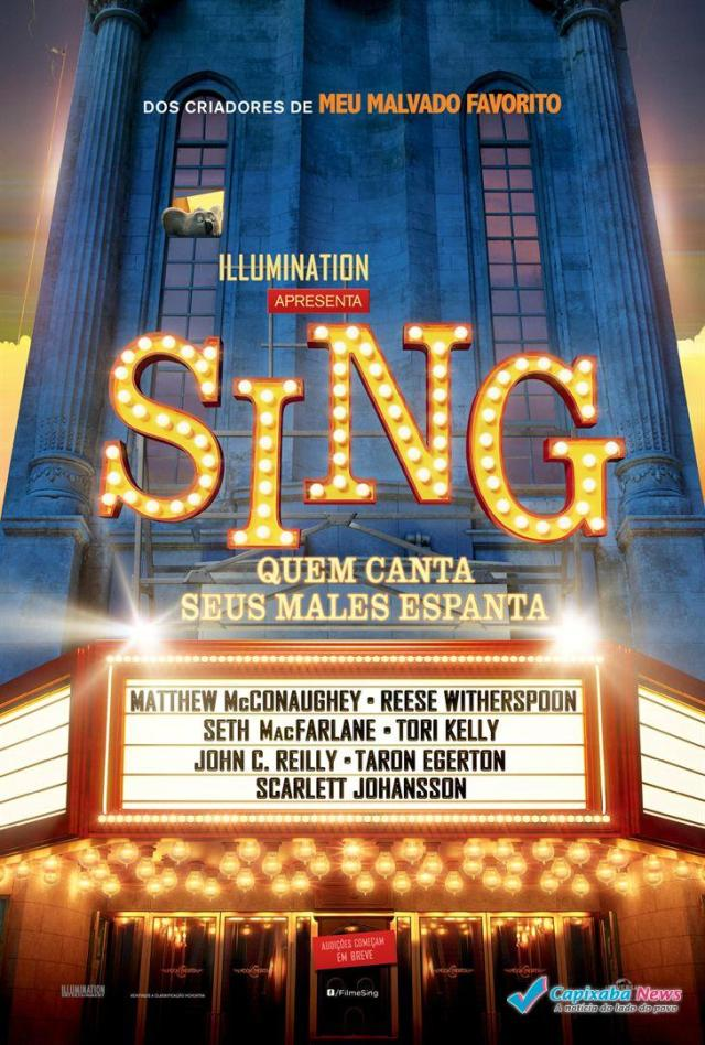 Cine Ritz Piúma: Sing – Quem Canta Seus Males Espanta