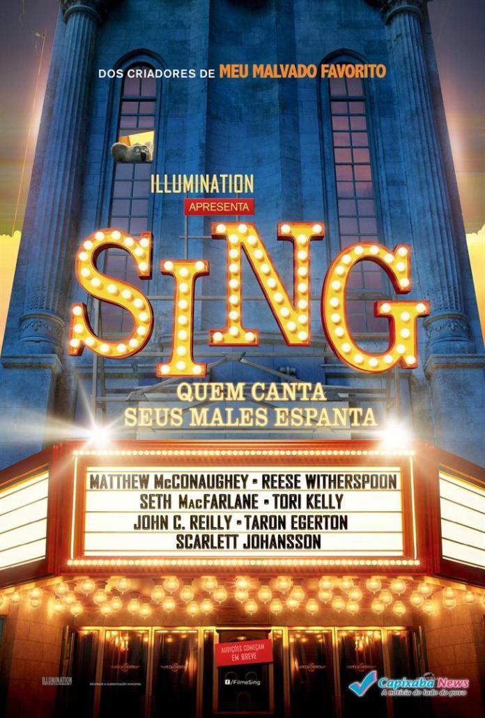 Programação Cine Ritz Sul: Sing - Quem Canta Seus Males Espanta