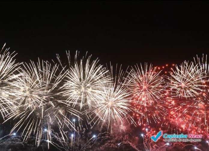 Vitória, Serra e Guarapari terão queima de fogos de até 15 minutos de duração