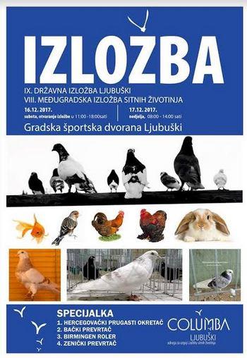 8. međugradska izložba sitnih životinja u organizaciji Udruge Columba
