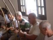 Mestres da capoeira comemoram o aniversário de mestre Dorival dos Santos, 27.10.13.