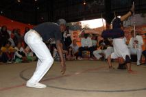Roda de capoeira no Amorim Lima