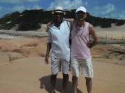 Mestre Marquinho e Edison Santos, aprendiz de griô.